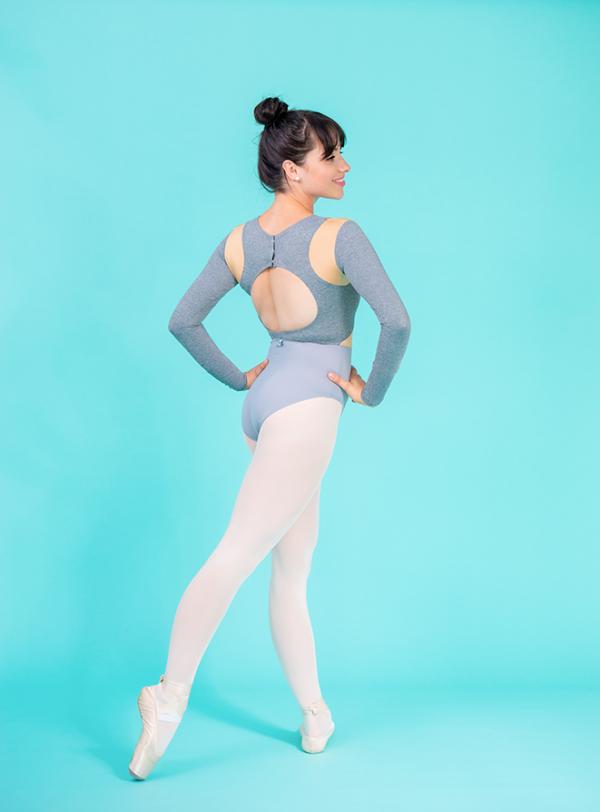 crop top leotard grey ds1985 dancewear