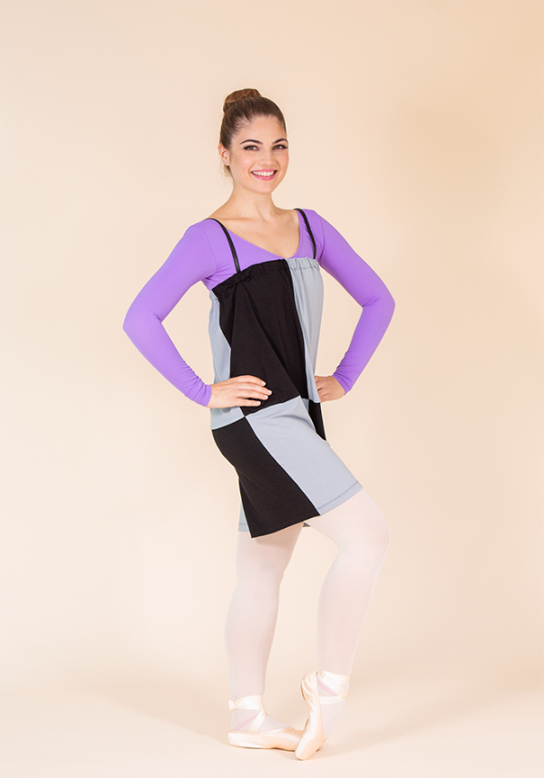 jumpsuit black grey ds1985 dancewear