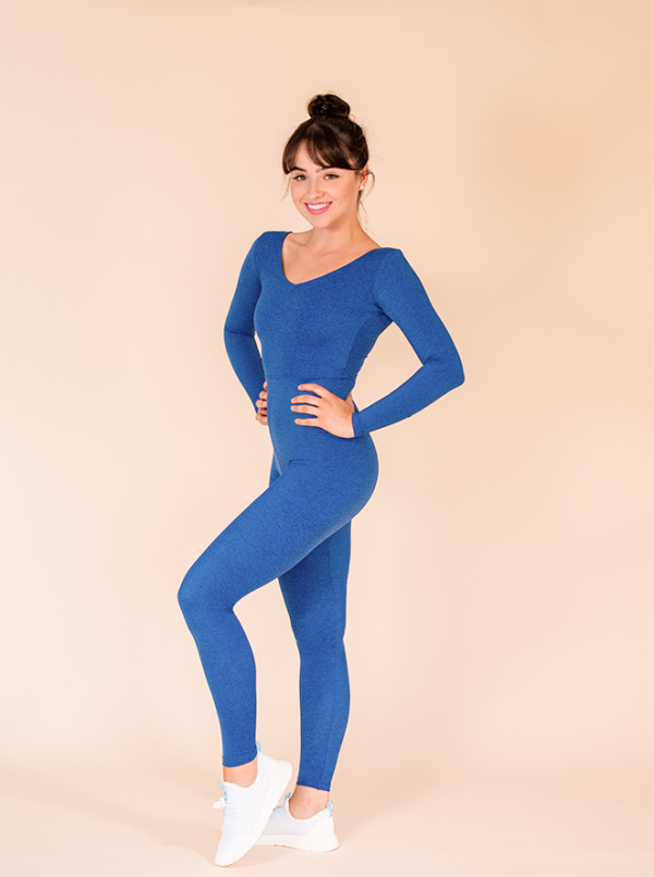 unitard long blue mottled ds1985 dancewear