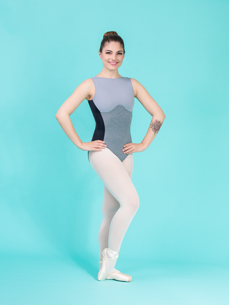 bustier leotard grey ds1985 dancewear