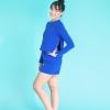 crop top blue ds1985 dancewear
