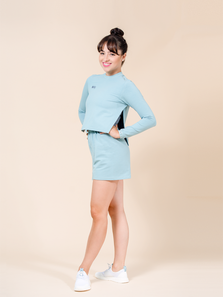 crop top turquoise ds1985 dancewear