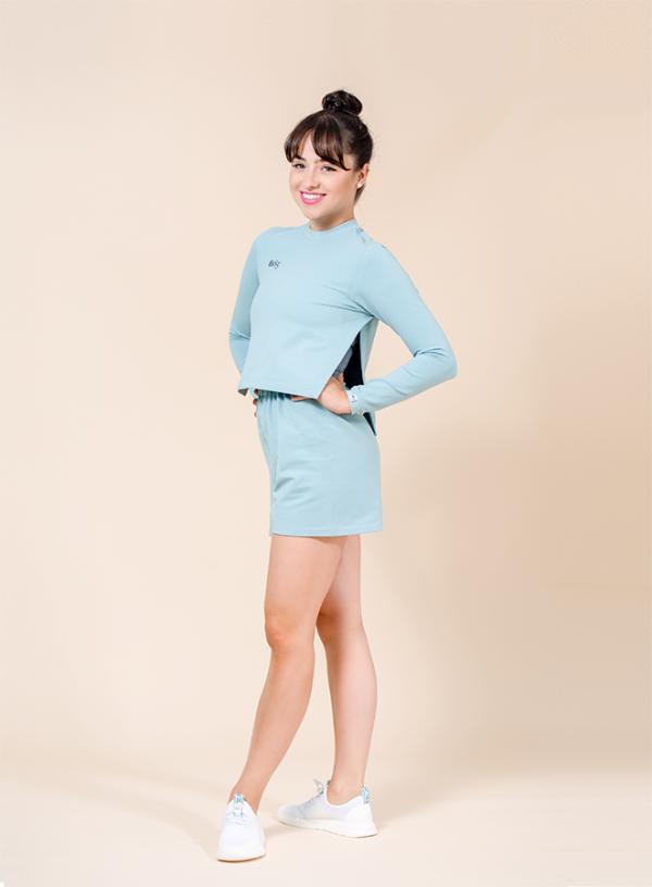 crop top turquoise ds1985 dancewear