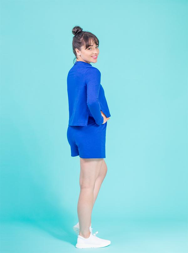 jogger shorts royal blue ds1985 dancewear