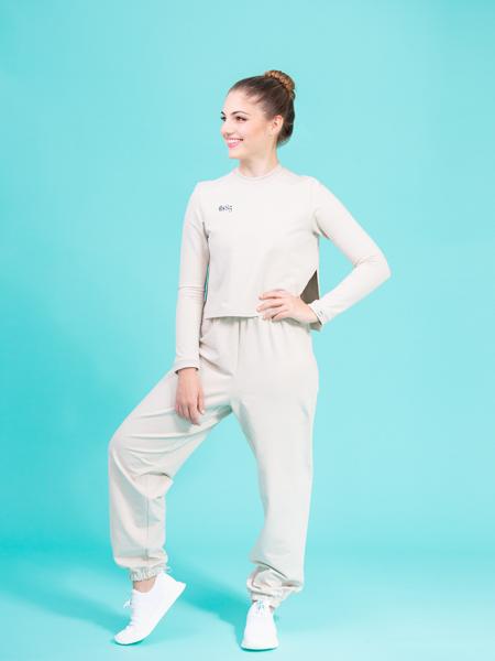 joggers beige ds1985 dancewear