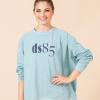 oversize sweatshirt turquoise ds1985 dancewear