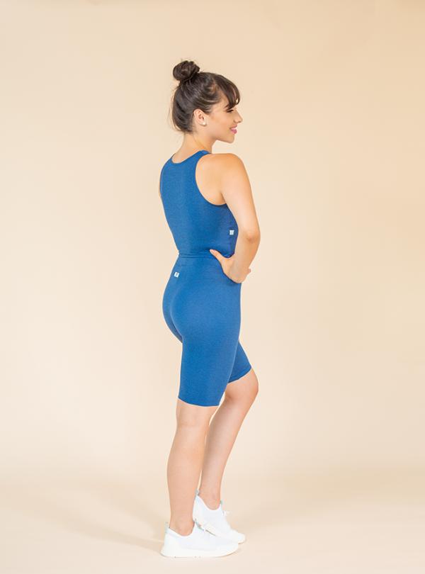 short leggings royal blue mottled ds1985 dancewear