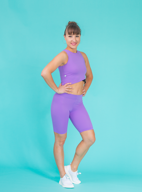 short leggings lilac ds1985 dancewear
