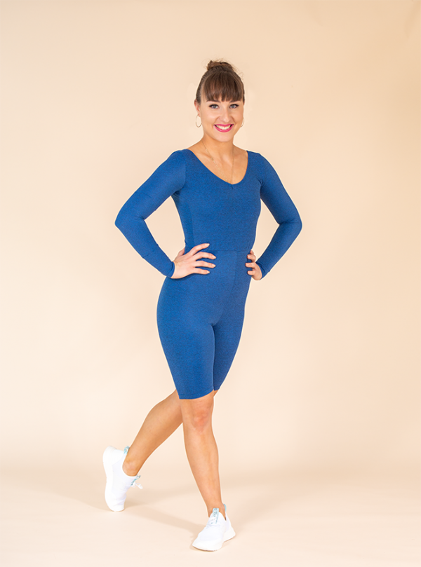 short unitard blue mottled ds1985 dancewear