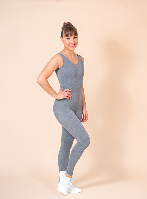 unitard long grey mottled ds1985 dancewear